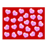 Valentine Candy Hearts Post Card