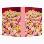 Valentine Candy Hearts Vinyl Binders