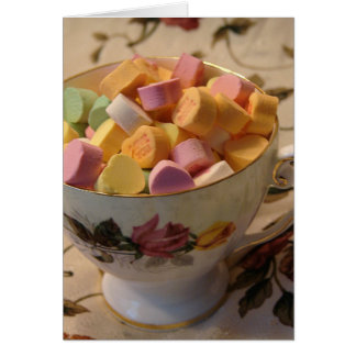 Valentine Candy in Teacup Card