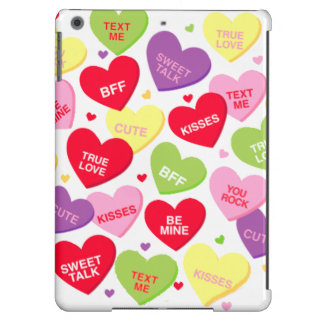 Valentine candy message hearts iPad cover