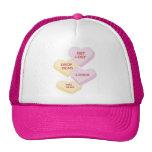 Valentine Candy Valentine's Day Trucker Hats