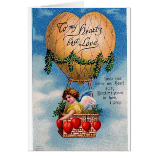 Valentine card--100 year old image.