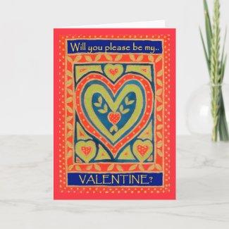 Valentine Card - Decorative Heart card