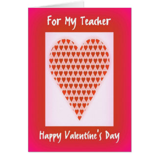 Valentines Day For Teacher Greeting Cards  Zazzle