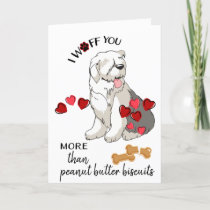 Valentine Card from Your Old English Sheep Dog