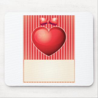 Valentine card mouse pad