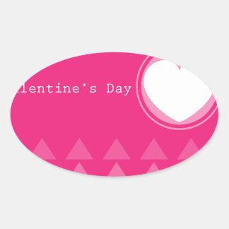 Valentine card oval sticker