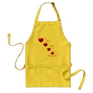 "Valentine ""Catch My Heart"" Product Line Adult Apron"
