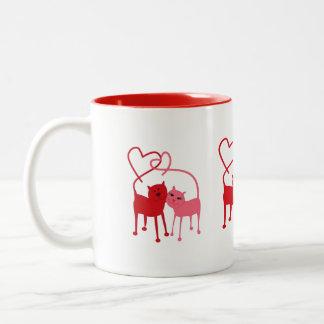 Valentine Cats - Beverage Mug