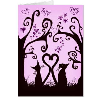 valentine cats card