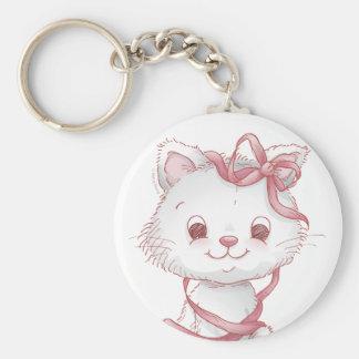 Valentine cats keychain