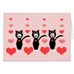 Valentine Cats Notecard Greeting Cards