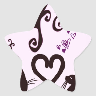 valentine cats sticker