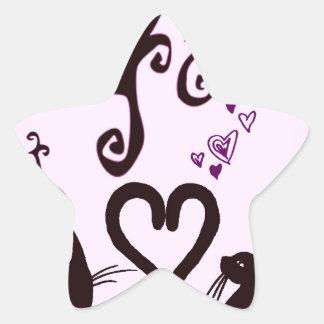 valentine cats stickers