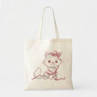 Valentine cats tote bag