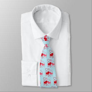 Ties - Valentine Cats Valentine Tie Red Gold Hearts Valentine's Day Men's Tie