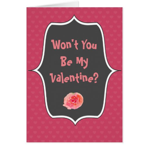 Valentine Chalkboard Greeting Card & envelope