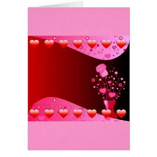 Valentine Champagne background Card