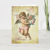Valentine Cherub - Amour Holiday Card