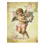 Valentine Cherub - Amour Postcard