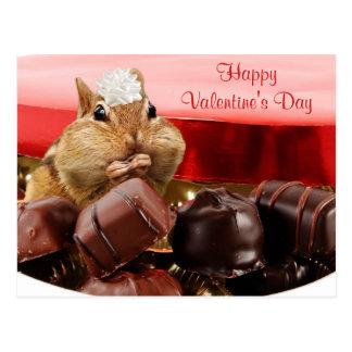 Valentine Chipmunk Post Card