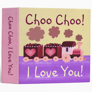 Valentine Choo Choo Train Binder