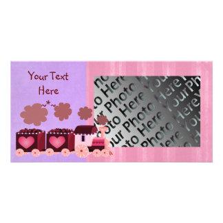 Valentine Choo Choo Train Photo Card