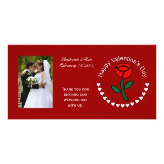 Valentine Cirlce Hearts & Rose Photo Cards