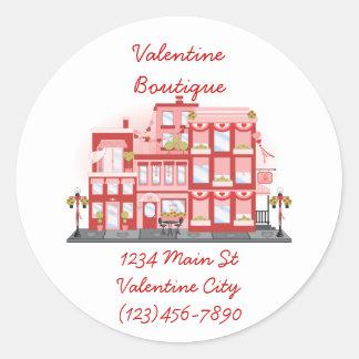 Valentine City Classic Round Sticker