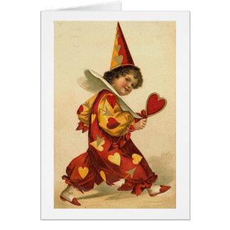 Valentine Clown (2) Card