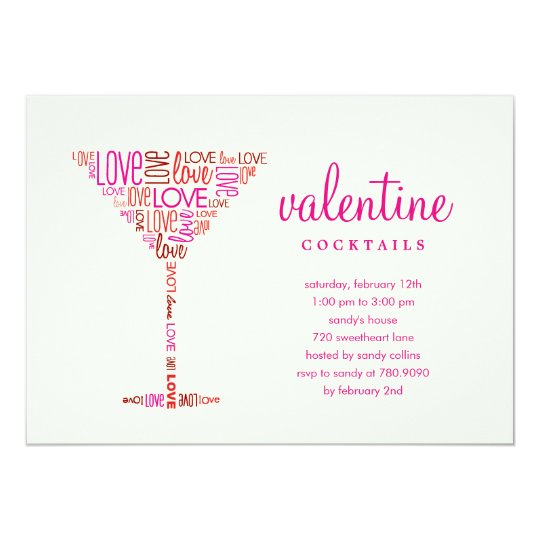 Valentine Cocktail Party Invitation