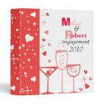 Valentine Cocktails 3 Ring Binder