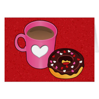 Valentine Coffee and Donut Card