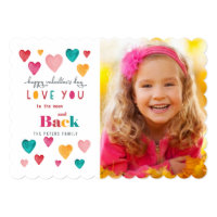 Valentine Colorful Bright Hearts | Photo Card