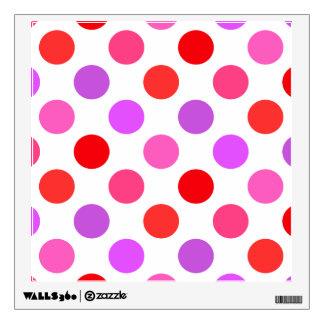 Valentine Colors Polka Dots Wall Sticker