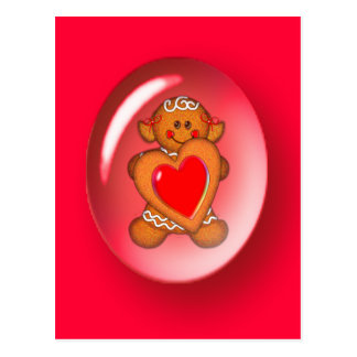 VALENTINE COOKIE BUBBLE GIRL by SHARON SHARPE Postcard