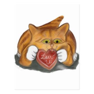 Valentine Cookie for Orange Tiger Kitten Postcard