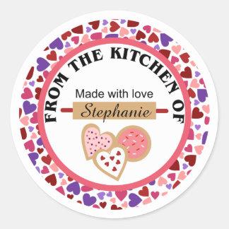 Valentine Cookies Baking Stickers