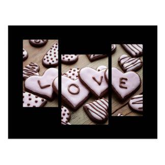 Valentine cookies postcard
