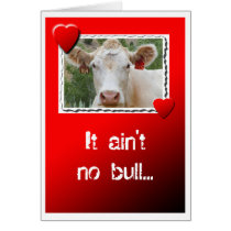 Valentine Cow Card
