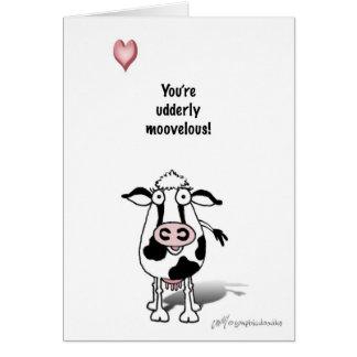 Valentine cow card