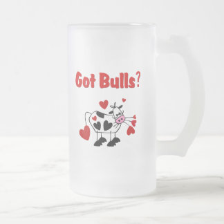 Valentine Cow With Black Heart Spots 16 Oz Frosted Glass Beer Mug