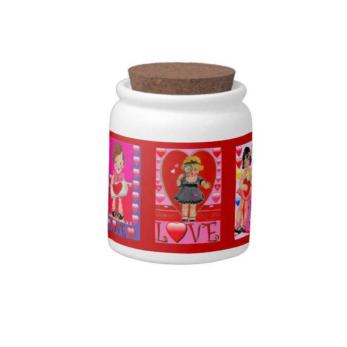 VALENTINE CREATIONS COOKE JARS - BEST GIFTS - LOVE CANDY JAR