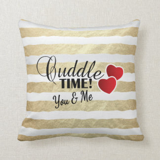 Valentine Cuddle Time You and Me Throw Pillow