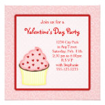 Valentine Cupcake Party Invites