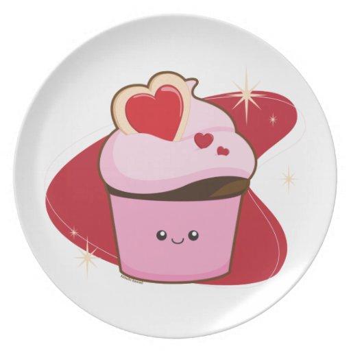 Valentine' Cupcake Plate