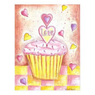 Valentine Cupcake Postcard
