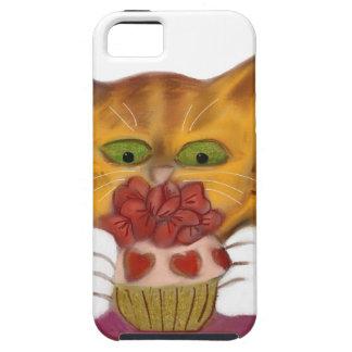 Valentine Cupcake Tempts Orange Tiger Kitten iPhone 5 Cases