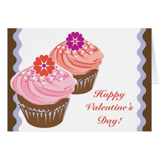 Valentine Cupcakes Card