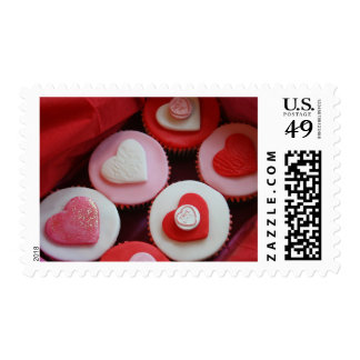 Valentine Cupcakes Postage Stamp